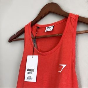 GYMSHARK OVERSIZED VEST IN RED